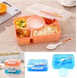 Box Containers For Sale Australia - 2019 Wholesales Hot sales Microwave Lunch Box Picnic Food Fruit Container Storage Box For Kids Adult Kitchen storage storage tray