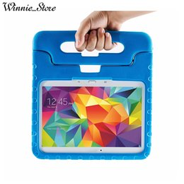 Kids thicK foam case online shopping - Foam Case Kids Safe Rugged Proof Thick Handle Stand Case For Samsung Galaxy Tab T531 T535 T530 EVA Cover Cases