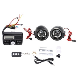 "$enCountryForm.capitalKeyWord Australia - KKMOON Motorcycle Handlebar Audio System 3"" Stereo Speaker FM MP3 USB SD AUX With remote control and alarm function car"
