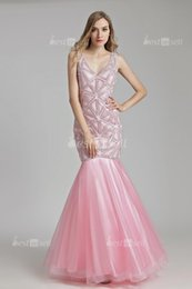 red cowl neck cocktail dress Canada - 2020 sexy Youth pink Evening Dresses mermaid elegant Beads Sashes Floor Length beaded Zipper Back A-line Prom Gown lx488