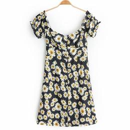 $enCountryForm.capitalKeyWord NZ - WXWT Women's Chic Small floral Print Tube Top Short Sleeve Dress Ladies Summer Casual Vacation Beach Party Sweet Dress