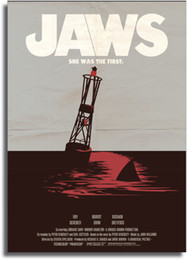 large vintage poster Canada - JAWS Movie Vintage Art Large Art Gifts Silk Print Poster 535