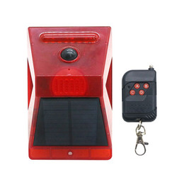 portable security alarm UK - Edison2011 2020 New Solar Alarm Lights 129db Sound Security Lamp Solar Strobe Light with Controller Motion Sensor