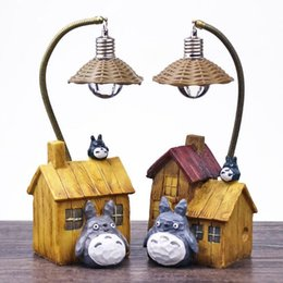 Small House Decoration Australia - Chinchilla House Night Lights Creative Resin Decorations Small Table Lamps Home Decorating Lights Student Gifts Creative Fashion Home