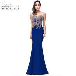 $enCountryForm.capitalKeyWord Australia - Robe Demoiselle D'honneur Elegant Appliques Lace Royal Blue Bridesmaid Dresses Cheap Wedding Party Dress Robe De Soiree j190717