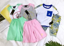 $enCountryForm.capitalKeyWord NZ - Girl designer luxury Suit Summer Children Dress Pure Cotton Short Sleeve New Pattern In Child Letter Stripe Dress baby clothing set 0606
