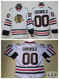 clark griswold hockey jersey 2019 - Men Vintage Chicago Blackhawks Hockey Jerseys White 00 Clark Griswold Vintage CCM Moive National Lampoon's Christma