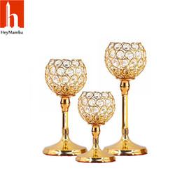 $enCountryForm.capitalKeyWord UK - Heymamba Crystal Candle Holders Metal Candlestick Wedding Centerpieces Candelabrum Decoration Y19061901