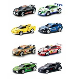 micro car racing NZ - 8 Colors Hot Sales 20KM H Coke Can Mini RC Car Radio Remote Control Micro Racing Car 4 Frequencies Toy For Children