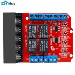 $enCountryForm.capitalKeyWord Australia - DIYmall Relay Shield 4-Way 5V Relay Module HIGH Trigger Expansion Board for microbit micro:bit micro bit