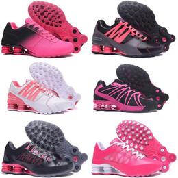 8d6af4c3b Barato Hight Qualidade Novas Mulheres Shox Avenida NZ Sports Running Shoes  Ouro Preto Mens R4 Sneakers Homem Cinzento Caminhadas Jogging Sapatos de  Tênis