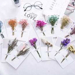 $enCountryForm.capitalKeyWord Australia - Air Dry Babysbreath Artificial Flower Greeting Card Bouquet Multicolor Valentine's Day Wedding Flower Decor Scrapbooking