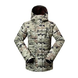 snow clothing jacket Australia - Genuine GSOU SNOW Lady Ski Suit Waterproof Windproof Breathable Warm Double Single Board Ski Jacket Cotton Clothes Size XS-L