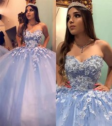 masquerade ball party images Canada - Masquerade Cinderella Sweet 16 Ball Gown Quinceanera Dresses 2019 Vintage Lace 3D Floral Beaded Arabic Vestidos De 15 Anos Prom Party Gowns