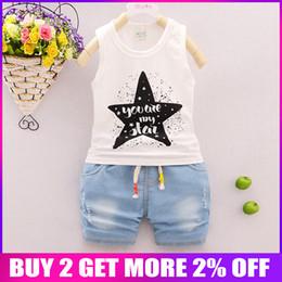 $enCountryForm.capitalKeyWord Australia - BibiCola New Summer Baby Boy Clothing Set vest + Shorts Kid Boy Summer tar pattern Sets Toddler Boys Clothes Set