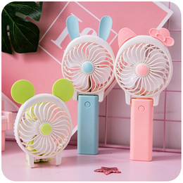 Aluminium Fans NZ - Rechargeable mini-cartoon hand with USB electric fan foldable student electric fan portable dormitory small fan