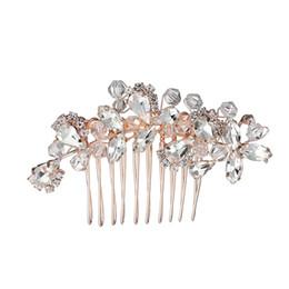 $enCountryForm.capitalKeyWord Australia - Bridal Head Accessories Crystal Rhinestone Hair Combs Wedding Hair Clips Accessories Jewelry Handmade Women Hair Ornaments Headpieces