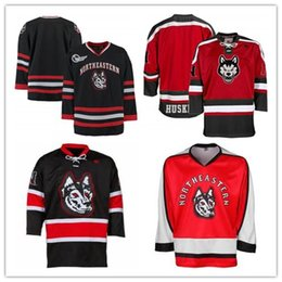 Discount hockey player - Custom XS-5XL Northeastern Huskies K1 Hockey Jersey Black Red Stitch Sewn Any Player or Number Free Shipping
