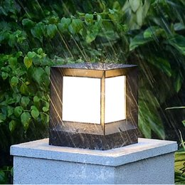 Wholesale Nordic Black White IP44 Waterproof Solar LED Outdoor Garden Lighting Patio Lamp With Sensor for Floor Decor Country House Street