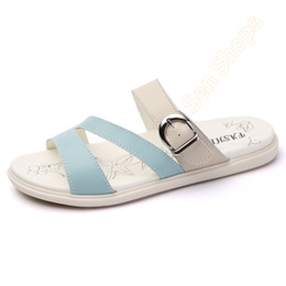 peep toe beach flats Australia - Summer Hemp Rope Cross Solid Color Slip-On Round Toe Beach Shoes Sandals and Slippers Women Wear Roman Flat Shoes Peep Toe Sandals