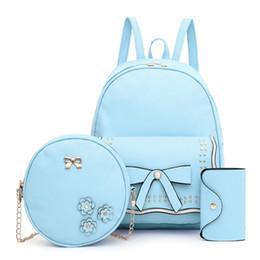 $enCountryForm.capitalKeyWord Australia - KKMHan Brand 3Pcs Fashion Student Women Solid Color School Bag Backpacks Student Bag+Clutch Dropshipping rucksack mochilas