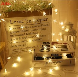 curtain indoor string lights Australia - 1.5 3 6Meter LED string lights Fairy Lights Battery Operated Star for Wedding Decoration Outdoor Indoor warm white Curtain 5Z