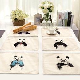 $enCountryForm.capitalKeyWord NZ - CAMMITEVER Black White Panda China Animal Placemat Large Dinner Mat Table Mats Fashion Style Dining Mat