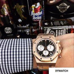 Big Rose Watches Australia - MAN Chronograph DATE BIG B Rose gold QUARTZ sport wholesale Montre de luxe fashion men watch new Stainless steel mens watches