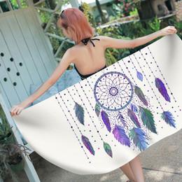 $enCountryForm.capitalKeyWord Australia - dream catcher print beach bath towel summer swimming pool towels for chaise lounge modern spa sauna gym toalla