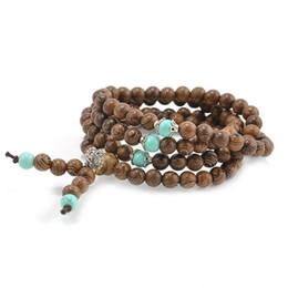 Discount buddha beads necklace bracelet - NEW 108 Sandalwood Buddhist Buddha Meditation Prayer Bead Mala Bracelet Necklace