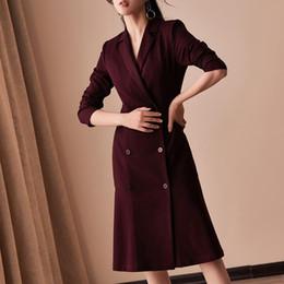Jackets ladies winter wear online shopping - Dress Suits Women Autumn Winter Luxury Long Sleeve Blazer Jacket Suit Elegant Double Breasted Dress Office Lady Plus Size