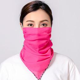 $enCountryForm.capitalKeyWord Australia - Sun Dust Mask Dust Face Mask For Women Chiffon Solid Color Sunscreen Scarf Collar Masks Female Neck Breathable Full Face Anti-UV Veil Summer