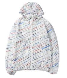 $enCountryForm.capitalKeyWord UK - New fashion wild sun protection clothing color oblique English letter printing hooded zipper men and women couple models windbreaker jacket