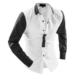 $enCountryForm.capitalKeyWord Australia - Slim Fit Men Shirts Spring Autumn New Fashion Cotton Blouse Mens Casual Turn-down Collar Long Sleeve