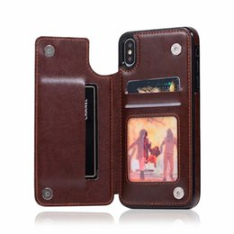 Discount iphone card box case - ID Card Box Pocket Case For Samsung S10 S10e S9 Iphone XR XS MAX 8 7 6 Flower Luxury Magnetic Slot Soft TPU PU Leather H