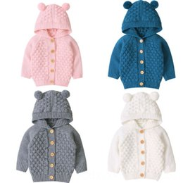 cute baby clothes ears UK - Cute Ear Toddler Boys Girls Kids Maternity Clothing Maternity Supplies Baby Sweater Hooded Knit Warm Coat Outerwear