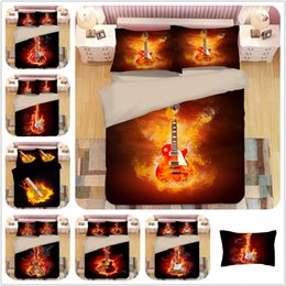 Guitar Cleaning Australia - NEW Coming Bedding Set Ghost Guitar Special Pattern Style Reactive Printing Duvet Cover Pillowcase Bedsheet Home Decoration