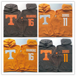 xl 16 sweatshirts hoodies NZ - Mens Tennessee Volunteers Sweatshirt Personalized Any Name Number Stitched College Football Pullover Hoodie 11 Dobbs 16 Manning Jacket