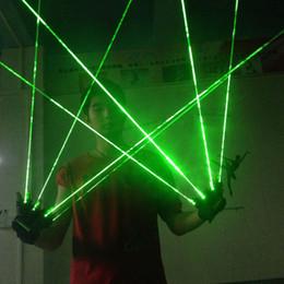 Venta al por mayor de 1 Unids Guantes Láser Verde Dancing Stage Show Light Con 1/2/3/4/5 pcs láser de luz LED para DJ Club / Fiesta / Barras
