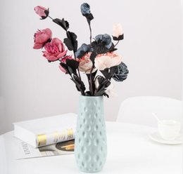 plastic inserts Canada - Plastic flower vases pink decorative flower vase for decor insert artificial flowers for sitting room office wedding ceremony