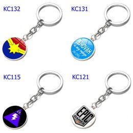 $enCountryForm.capitalKeyWord Australia - 74 Styles Alloy Keychains Various Smiley Face Expression Car Keychains Time Gem Single Side Cartoon Games Keychain Mix Order
