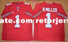 0cac9650a NCAA Ohio State Buckeyes J.T Barrett Jersey Curtis Samuel Braxton Miller  Cardale Jones Raekwon McMillan Ohio State Buckeyes Football Jersey