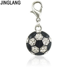$enCountryForm.capitalKeyWord UK - JINGLANG Trendy Alloy Football Enamel Charms Lovely DIY Pendant Handmade Jewelry for Necklace Bracelet