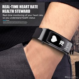 headphone control android NZ - For iphone samsung smartphones y3 smart watch bracelet talk band 2 in 1 bluetooth headphones headset Heart Rate Monitor free DHL
