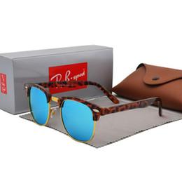 Box Brand Glasses NZ - Classic Half Metal Sunglasses Men Women Brand Designer Glasses Mirror Sun Glasses Fashion Gafas Oculos De Sol UV400 S1580 with cases and box