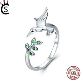 Peace rings online shopping - 925 Sterling Silver Ring fit Pandora Jewelry Radiant Heart AIR Enamel Synthetic Spinel Women Ring Silver Jewelry peace dove