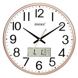 $enCountryForm.capitalKeyWord Australia - Nordic Wall Clock Modern Design Home Decor Wall Watches Digital Clock Home Decor Best Selling 2019 Products Clocks