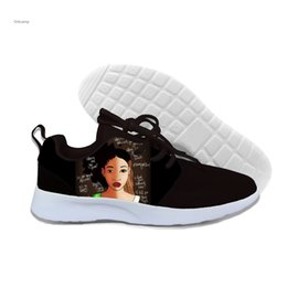 $enCountryForm.capitalKeyWord Australia - Sales Black Art African Girls 3d Printing Comfortable Breathable Shoes New Fashion Casual Lightweight