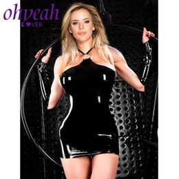 porno dolls NZ - Ohyeahlover Porno Lenceria Leather Dessous Sexy Hot Erotic Costume Underwear Women Open Crotch Baby Doll Sexy Lingerie CM80723