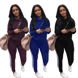 China Women Tracksuits Two Piece Outfits Letter Print Set Autumn Long Sleeve Hoodies Tops + Jogger Pants Set Pink Sweatsuit 2pcs suppliers